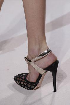 Giambattista Valli Mesh Shoes Paris Haute Couture SS 2013 #Sandal #High #Heels