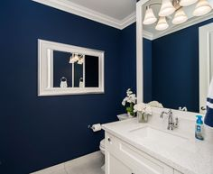 tiles for bathroom navy blue paint colors navy blue walls white trim and 29599