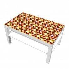 """Beklebe deinen Lack Tisch mit dem retro Design """"Retro Triangels"""". #ikeadesign #tisch #retrostyle #dreieckdesign #designfolie"""