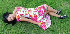 Orange & Pink floral dress by HotRodJohnnyDesigns on Etsy.  LOVE THIS!!!  #plussize #plus