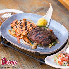 What's your favorite kind of fajita? Delicious Dishes, Fajitas, Chevy, Steak, Menu, Fresh, Food, Menu Board Design, Essen