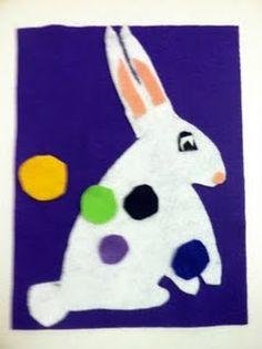Pin the tail on the bunny #flannelboard #feltboard #preschool