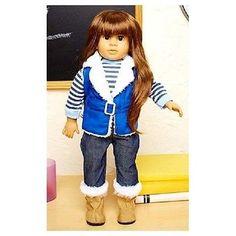 "Girls Doll 18"" Vinyl Brunette Brown Eyes Style-able Hair Toy Gift Dolls Play"