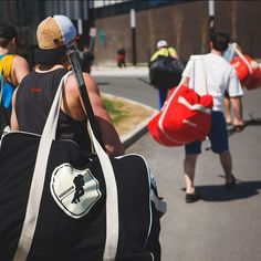 Could be at a local shaker, heading to the golf course or just hitting the ice. Nothing feels better than rolling deep with the squad Lifestyle Clothing, Gongshow Hockey, Sling Backpack, Feel Good, Squad, Gym Bag, Canada, Feelings, Golf