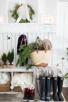 Christmas Home Tour Part 2 (Craftberry Bush) Frosted Christmas Tree, Cottage Christmas, Nordic Christmas, Rustic Christmas, Christmas Home, Christmas Decor, Christmas Ideas, Xmas, Holiday Decor