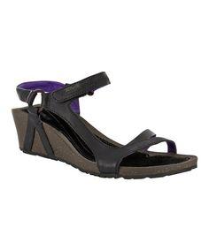 Look at this #zulilyfind! Black & Purple Cabrillo Leather Wedge Sandal - Women by Teva #zulilyfinds