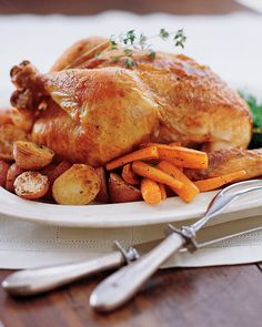 My go to recipe for Perfect Roast Chicken Recipe & Video | Martha Stewart (which I can never find in my pins so I'm repinning)