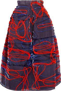 ROKSANDA Fil coupé midi skirt