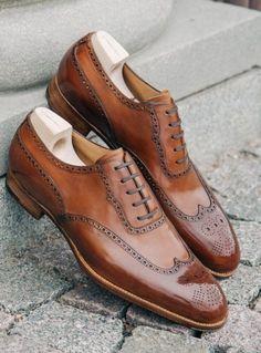 Men,s Handmade wingtip brogue formal shoes, Men brown dress shoes, New Men shoes - Dress/Formal