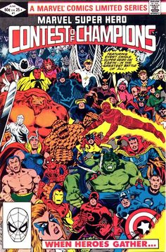 Marvel Of Super-Heroes Contest Of Champions #1, June 1982, cover by John Romita, Jr. and Bob Layton