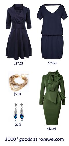 Varied styles and designs, more than thousands of products at rosewe.com, new sign up 15% off, don't wait, check them out. Sophisticated Outfits, Classy Outfits, Chic Outfits, Beautiful Outfits, Timeless Fashion, Vintage Fashion, Business Dresses, Everyday Dresses, Women's Fashion Dresses