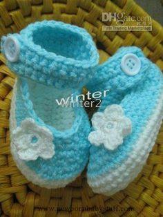 Crochet Baby Booties baby shoes...