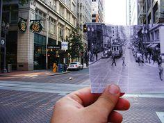 Lugares que las fotos han hecho perdurar #Portland Oregon, Then and now by Tinflower, via Flickr