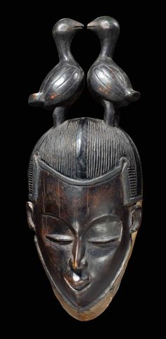 Africa  Mask from the Guro people of Ivory Coast  Wood