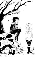 Death and Hawt Girl by KidNotorious