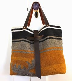MODERNHAUS: THE WOLFE TOTE / A MODERN BAG FROM VINTAGE TEXTILES