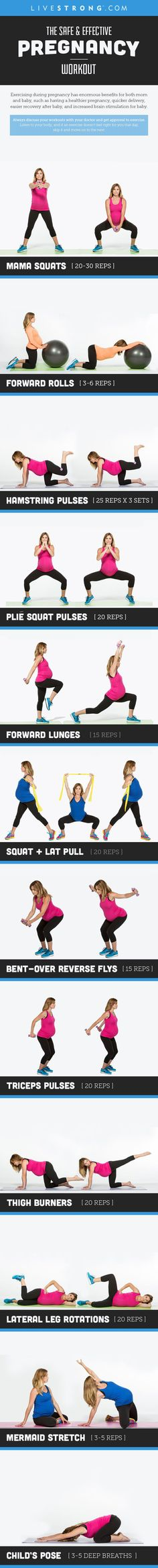 Exercising during pregnancy has enormous benefits for both mom and baby!