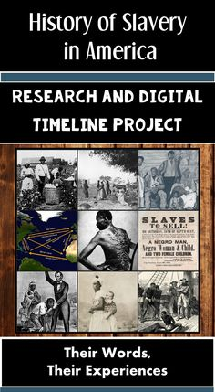 This teaching resource provides students with a rich context for learning the origin and history of slavery in America. Students will create a digital, multimedia timeline based on their research knowledge. Everything you need to implement this project is included from start to finish!
