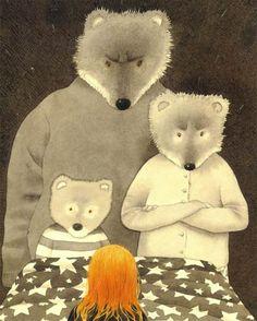 Anthony Browne 3 bears and goldilocks Children's Book Illustration, Illustrations, Anthony Browne, Goldilocks And The Three Bears, Album Jeunesse, We Bear, Fairytale Art, Bear Art, Animal Projects
