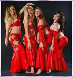 Belly Dance performance group with cohesive yet unique costumes