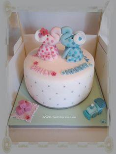 Elephant Christening for Emily & Harry - Cake by AWG Hobby Cakes
