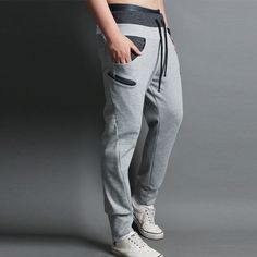 FreeShipping Sports Mens Jogging Training Pants Man Boys Skinny Pencil Trousers Sweatpants SP0298 DropShipping $16.99