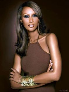 Iman  -- the beautiful Somali model who is in her 50s. Age is just a number.