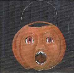"""Vintage Pumpkin"" by Linda W Clark #creativeworksoflindaclark https://www.facebook.com/CreativeWorksofLindaClark"