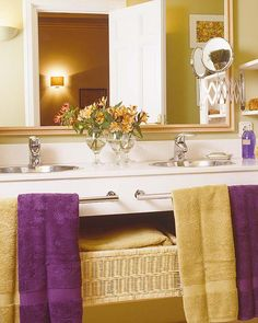 Lavender Bathroom Purple Bathrooms Gold Budget Colors