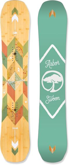 Arbor Female Swoon Rocker Snowboard - Women's want to try but doubt it will be better than the neversummer or burton Snowboard Pants, Never Summer, Snowboard Equipment, Snowboarding Women, Burton Snowboards, Snow Pants, Winter Fun, Christmas Wishes, Kleding