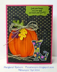 "Fun Stampin with Margaret! Sept. Tour de Freaks Blog Tour. Theme is ""BOO to You!"" Bootiful Occasions, Oval Framelits, Fun Fall Framelits."