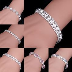 Fashion 7 style Charm Women Full Crystal Rhinestone Cuff Bracelet Bangle Bling Wristband Women