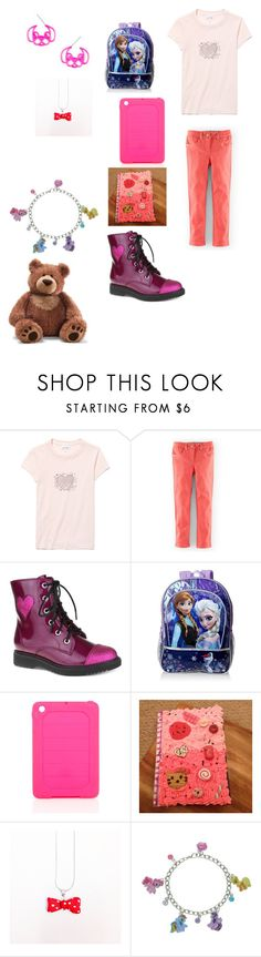 """""""Creepypasta: What Sally would wear to school"""" by ender1027 ❤ liked on Polyvore featuring Lacoste, Mini Boden, Disney, i.Sound, My Little Pony and Gund"""