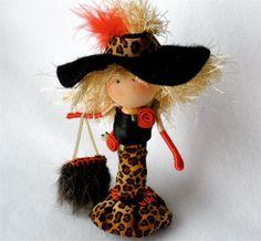 Clothespin Art Doll Fashionista