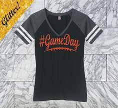 Red Glitter Football Mom Shirt Game Day Shirt Glitter Football Bling Shirt Game Day Glitter Shirt #Gameday Shirt Favorite Player DM476