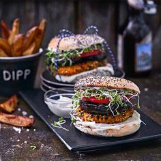 Portobello, Vegan Recipes, Vegan Food, Food Food, Salmon Burgers, Ethnic Recipes, Drinks, Drinking, Beverages