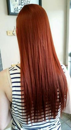 Red copper hair color. Pravana chromasilk