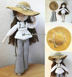 Вязаная крючком кукла Mariette (6)