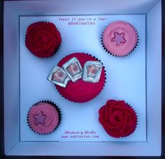 Cupcakes made (by Ooh Lou Lou Cakery) for Miranda Hart when she was a guest on the Jonathan Ross show.