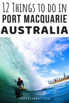 12 Things to do in Port Macquarie. For a NSW holiday mecca which built its reputation on surf, sun and sand, Port Macquarie, a four to five-hour drive north of Sydney, offers a great deal than at first meets the eye.