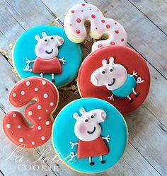 Peppa Pig / George Birthday Sugar Cookies 1 by LaPetiteCookie