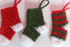 cómo hacer adornos navideños con crochet