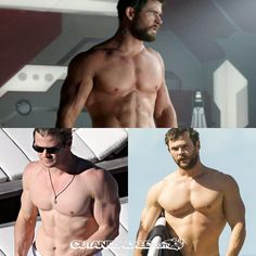 Chris Hemsworth http://www.cutandjacked.com/10-Most-Muscular-Ripped-Hollywood-Actors-OF-All-Time