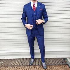 Royal Blue Suit, Blue Suit Men, Black Suits, Blue Suit Wedding, Wedding Suits, Wedding Attire, Blue Groomsmen Suits, Groom Suits, Groom Attire