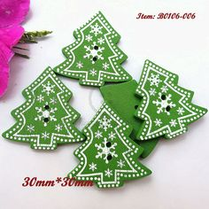 Apparel Sewing & Fabric Hearty 50pcs Christmas Holiday Wooden Collection Snowflakes Buttons Snowflakes Embellishments 18mm Creative Decoration Home & Garden