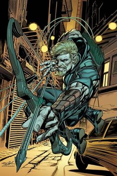 Adams provides the variant cover for June's GREEN ARROW #1, and like Kenneth Rocafort's SUPERMAN #1 and Mike Choi TITANS: REBIRTH #1 variants, they all go on sale June 15.