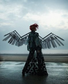 """Xiao Wen Ju in """"Be a Chameleon Fit in Anywhere, Be a Rockstar Stand Out Everywhere"""" for i-D Summer 2013 ph by Sølve Sundsbø www.steampunktendencies.com #SteamPUNK ☮k☮"""