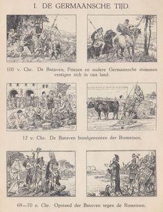Cornelis Jetses Verzameling. De boeken van uitgeverij Wolters met illustratie's van Cornelis Jetses. De Germaansche tijd.