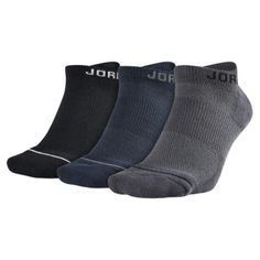 Supportive Fit with arch compression. Dri-FIT Fabric pulls away sweat to help keep you cool and comfortable. Nike Michael Jordan, Jumpman Logo, No Show Socks, Pairs, Boots, Fitness, Fashion, Crotch Boots, Moda