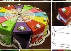 Ideas for handmade – Funny paper cake with wishes with their own hands pictures) 3d Projects, Projects To Try, Cake Shapes, Paper Cake, Diy Cake, 8th Of March, Scrapbooking, Gift Baskets, Party Time